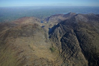 Aerial view of the Gap of Dunloe